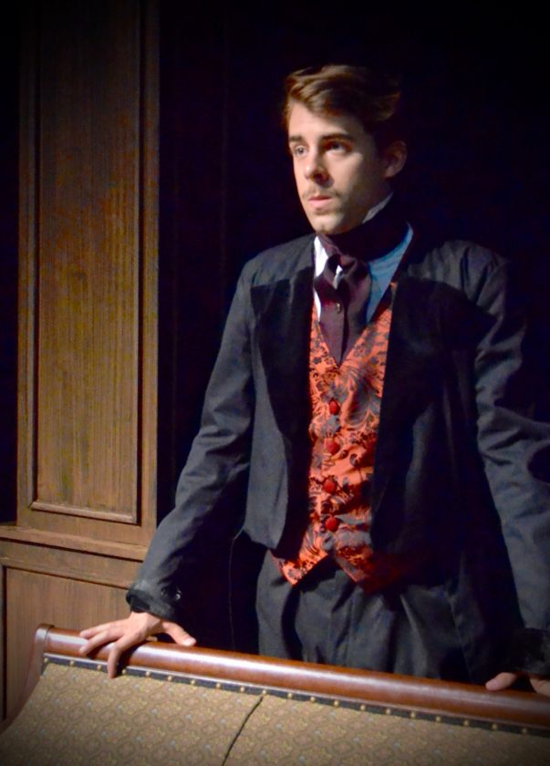 "Alex Gordon portrayed Edgar Allen Poe in West Liberty University's Hilltop Players' production of ""Poe: Master of the Macabre"" during the Kennedy Center American College Theater Festival held recently in New Jersey. WLU's Hilltop Players will have a one in eight chance of being selected to perform in April in front of a national audience. — Contributed"