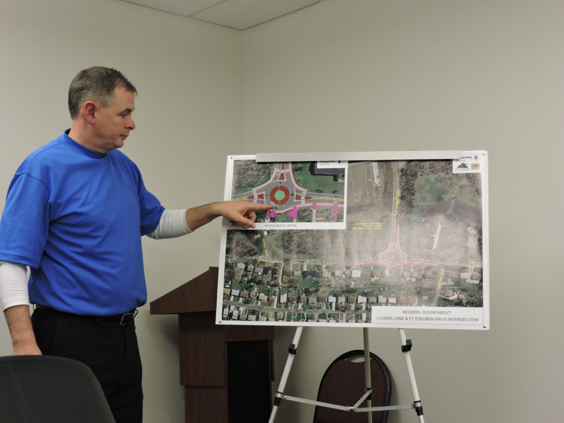 Steubenville City Engineer Michael Dolak will be answering questions regarding the construction of the Lovers Lane roundabout from 6 p.m. to 7 p.m. Thursday at the PrimeTime Senior Center. The meeting is open to the public. — Dave Gossett