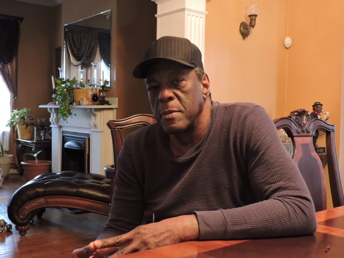 Calvin Wicker of Steubenville sat at his dining room table and talked about surviving a carbon monoxide leak in his basement. Wicker, a retired steelworker, urged everyone to invest in smoke and carbon monoxide detectors. — Dave Gossett