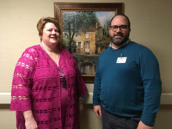 NEW MANAGEMENT TEAM — Tara Bowman has been named Carriage Inn of Steubenville's new administrator, while Douglas Wagstaff is the facility's new director of nursing services. -- Jess Looman