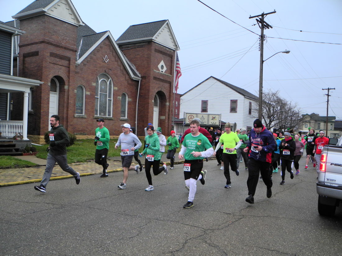 — Hundreds of area residents participated in the seventh annual Campbell-Dickinson St. Patrick Run-Bike-Walk event Saturday, raising money for Trinity Health System's Teramana Cancer Center's Emergency Assistance Relief Fund. The event coincided with the Noah Long 1K Kids Run-Walk and a head-shaving fundraiser benefiting the St. Baldrick's Foundation for childhood cancer research., — Warren Scott