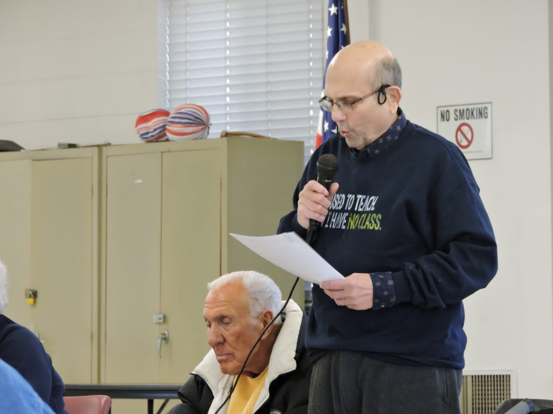 ISSUES STATEMENT — Gerald DiLoreto, a member of the Jefferson Metropolitan Housing Authority board of commissioners, issued a statement at the board meeting Wednesday afternoon indicating his displeasure with a settlement agreement between the Ohio Attorney General's office and Ohio Ethics Commission and former board member David Hindman. - Dave Gossett