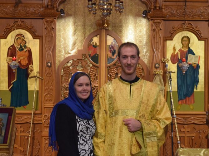 NEW PRIEST — Deacon Andrew Nelko, with his wife Kaila, has been assigned to St. Nicholas Orthodox Church on Colliers Way, Weirton. Nelko, who will soon graduate from St. Tikhon's Orthodox Theological Seminary, will be ordained Saturday and begin his duties in June.  -- Contributed