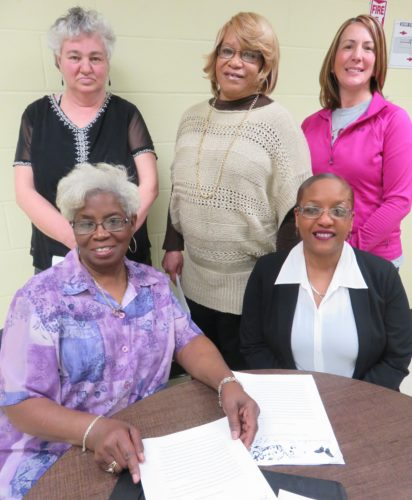 ADVOCATESOFHANNAH'SHOUSE OF GRACE — A luncheon and style show to benefit Hannah's House of Grace will be held from 1 p.m. to 4 p.m. April 8 at First Westminster Presbyterian Church, 235 N. Fourth St., Steubenville, an effort involving, seated, from left, Pastor Toni Hubbard, president; and volunteer Latisha Murray; and standing, volunteers Candy Meiler, Sondra Johnson and Kelly Jeffers, assistant secretary. Tickets are $12 in advance and at the door. Hannah's House of Grace is a nonprofit 501 (c) (3) organization that provides supportive transitional housing and program resources to recently incarcerated adult homeless women. -- Janice Kiaski