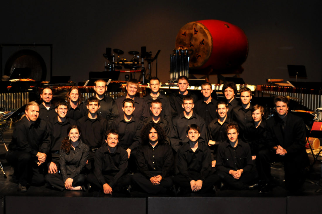 The West Virginia University Percussion Ensemble will take the stage three times May 9-10 at the Oak Glen High School's Little Theatre. — Contributed