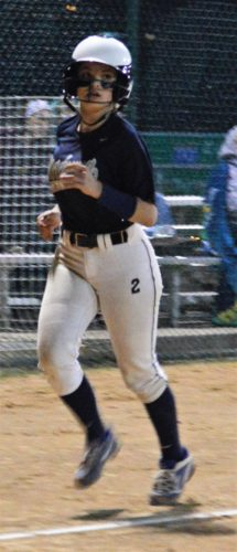 Kyle Lutz TROTTING HOME — Weirton Madonna's Sophia Recrosio scores during Monday's win over Conotton Valley in the OVACClass 1A semifinals.