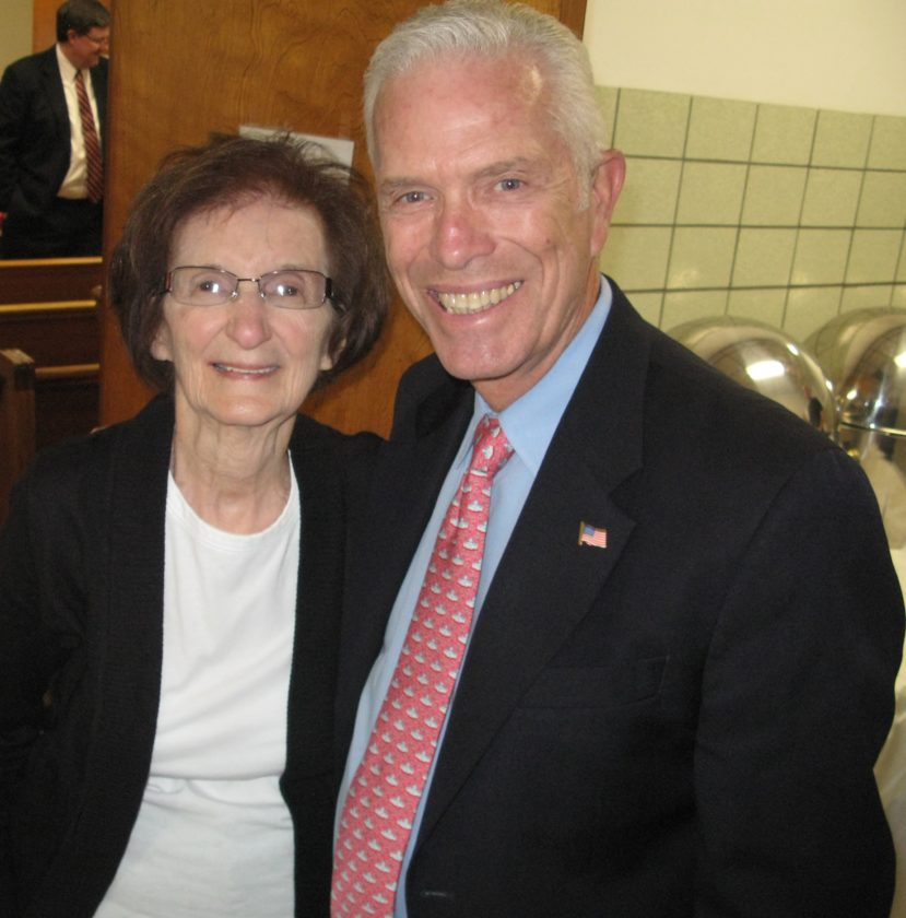 U.S. Rep. Bill Johnson, R-Marietta, and Sophie Schoolcraft enjoyed a moment prior to Johnson presenting Schoolcraft with a congressional proclamation for her decades of service to the village and its residents. The ceremony was held at the Municipal Building on Monday and was followed by a lunch in Schoolcraft's honor.  — Mark Law
