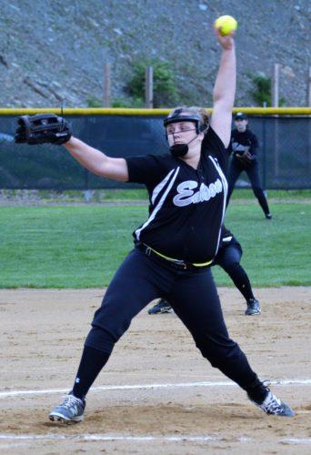 Edison pitcher Emily Smith (Shawn Rine photo).