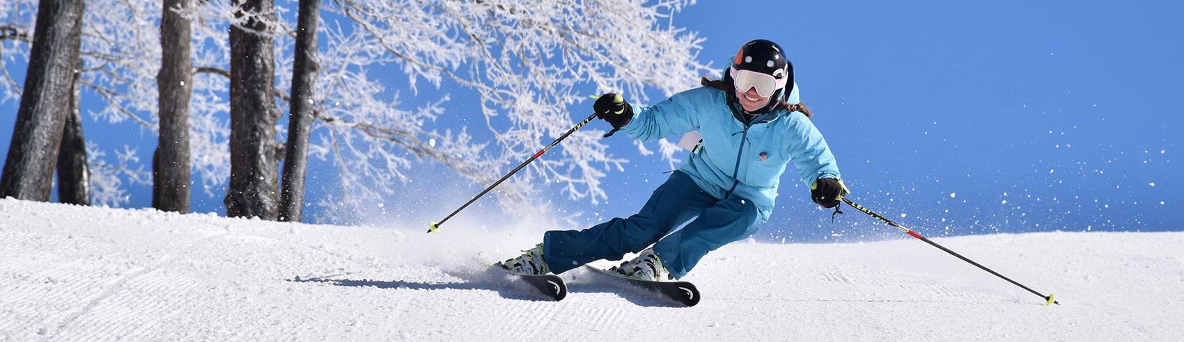 female-skier-bluebird-conditions