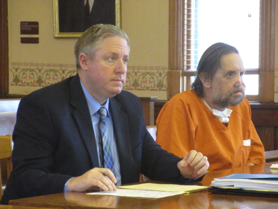 Alfred Saario, right, appears in court with defense attorney Henry McRoberts. (Nikki Younk/Daily News photo)