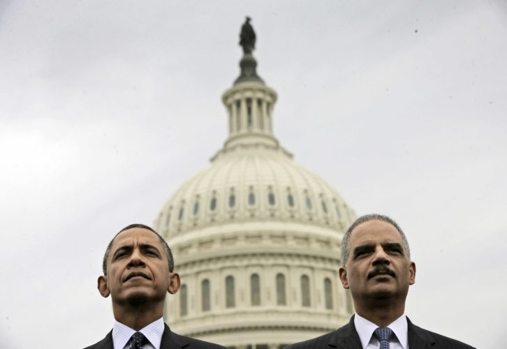 PRESIDENT BARACK OBAMA has announced plans to improve Democrats' down-ballot fortunes once he leaves office. He is launching an initiative with former Attorney General Eric Holder aimed at making Democratic gains when states redraw legislative district lines following the 2020 census. (AP Photo/Pablo Martinez Monsivais)