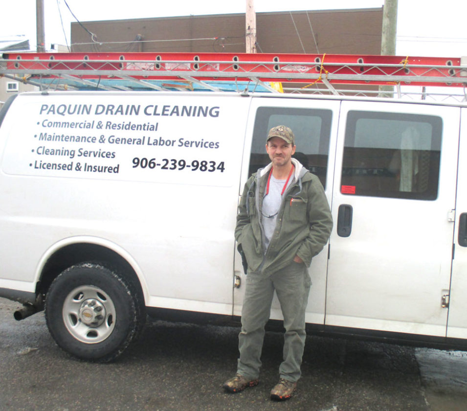 Linda Lobeck/Daily News Photo MIKE PAQUIN HAS opened a new business in the area that provides drain cleaning, maintenance and labor services 24 hours a day.