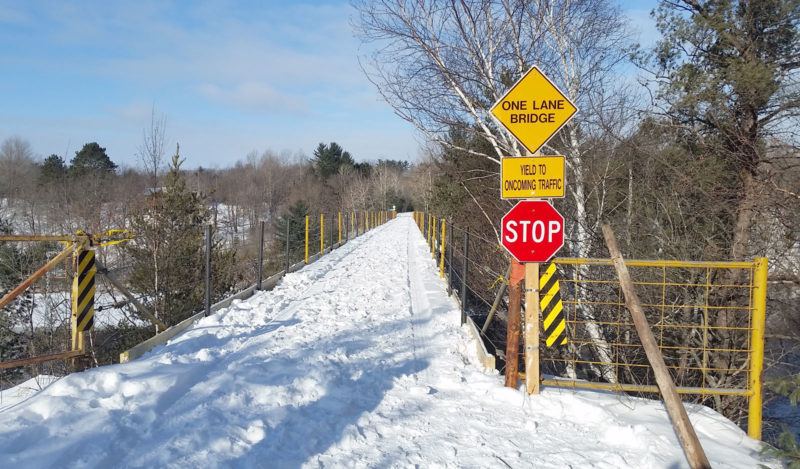 THE Snowmobile Trail NO. 2 bridge over the Menominee River at the Michigan-Wisconsin border in Dickinson County has reopened after a closure to make repairs to bridge railings.