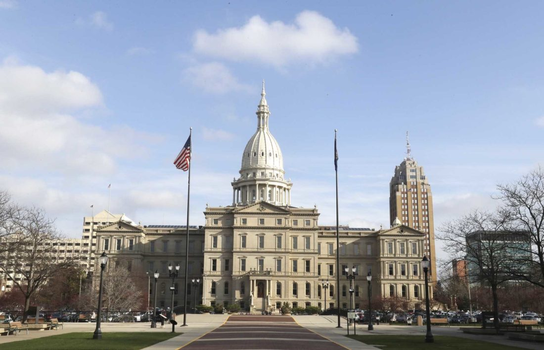 The State House in Lansing, Mich. (AP Photo/Carlos Osorio, File)