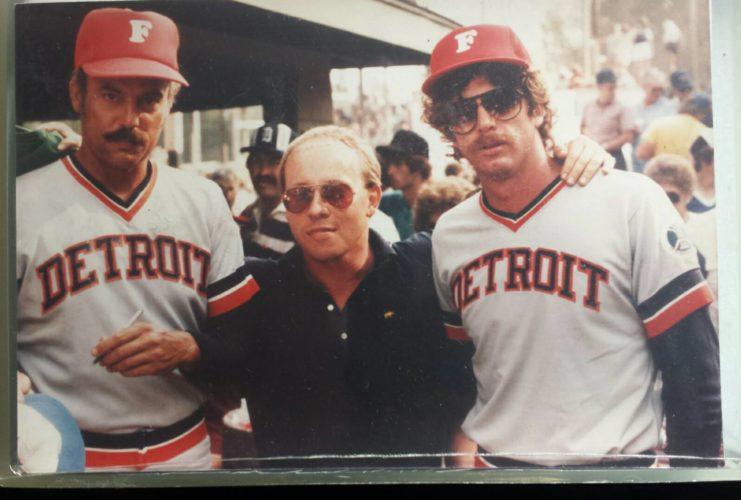 Jason Julian meets former Detroit Tigers stars John Hiller (left) and Mark (The Bird) Fidrych.