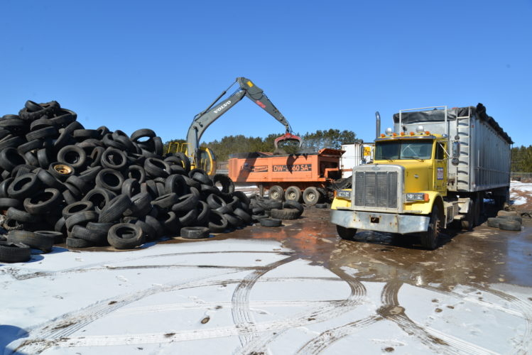 Great American Disposal processes about 100,000 waste tires a year at its Kingsford facility. The tires are recycled as a fuel supplement for biofuel electric generating plants.
