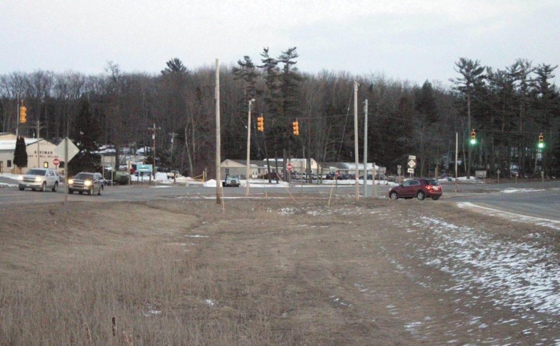 THE NORTH JUNCTION of U.S. 2/U.S. 141 and M-95 just north of the Iron Mountain city limits will see a major construction project this year as the Michigan Department of Transportation eliminates the grassy median and makes other upgrades. (Theresa Proudfit/Daily News photo)
