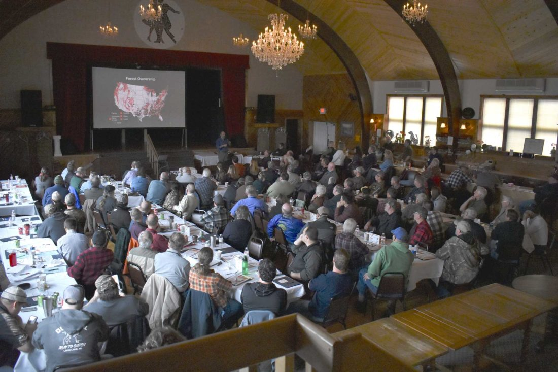 More than 120 people attended this week's Sustainable Forestry Conference at the Encore on Central in Florence, Wis. Brett Butler, an expert on forest ownership who works with the U.S. Forest Service's Forest Inventory and Analysis program, was among the speakers.