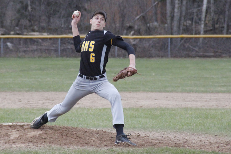 Iron Mountain's CJ Bolo pitches against Negaunee on Monday at Ranger Field. (Adam Niemi/The Daily News)