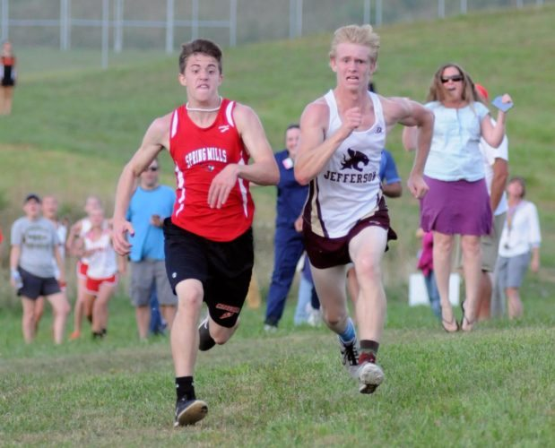 Spring Mills' Zane Braithwaite, left, and Jefferson's Nick Whitehair are two of top competitors in today's region meet.