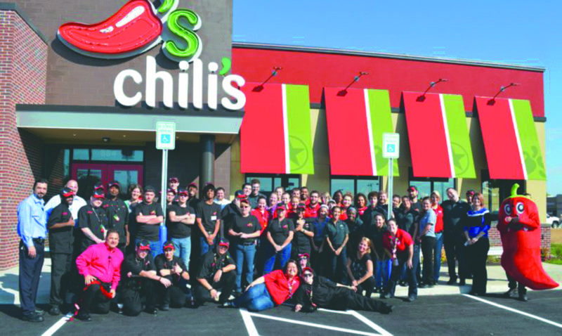 Submitted photo Chili's held the ribbon cutting and grand opening Monday, Oct. 17, for its new location on Foxcroft Avenue in Martinsburg.