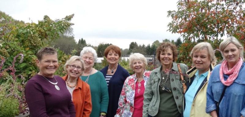 "Submitted photo Newly renamed ""The Wandering Gardeners"" are shown together after a recent trip to Surrybrooke gardens in Middletown, Md."