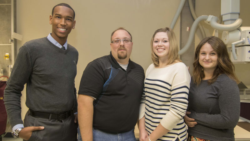 Submitted photo Shown from left, Radiography award winners Malcom Hopkins, Eli Geise, Miranda Speak, and Erica Hamel.