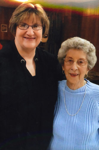 Submitted photo Maria Childers, guest speaker, is pictured with BCARSE member Norma Grant.
