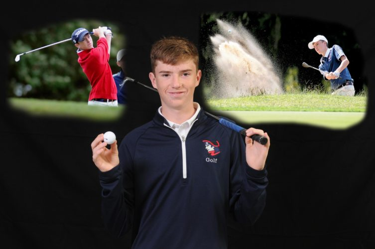Journal illustration and photo by Ron Agnir Washington sophomore Christian Boyd won the individual regional title and and shot back-to-back 76s at the state tournament. For his accomplishments, Boys was named The Journal's Golfer of the Year. (Journal photo illustration by Ron Agnir)