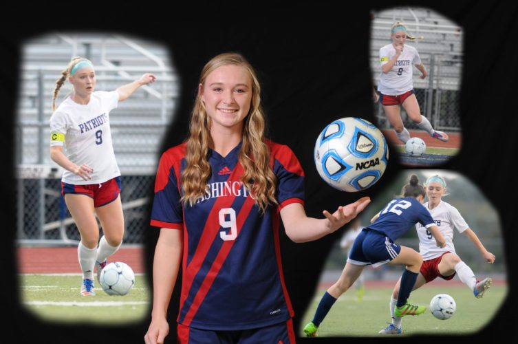 Washington's Atley Fortney showed outstanding talent on offense, being among area leaders in scoring during her senior year. Her play helped guide the Patriots to the state semifinals in Class AAA this season, and Fortney was named The Journal's Female Soccer Player of the Year.