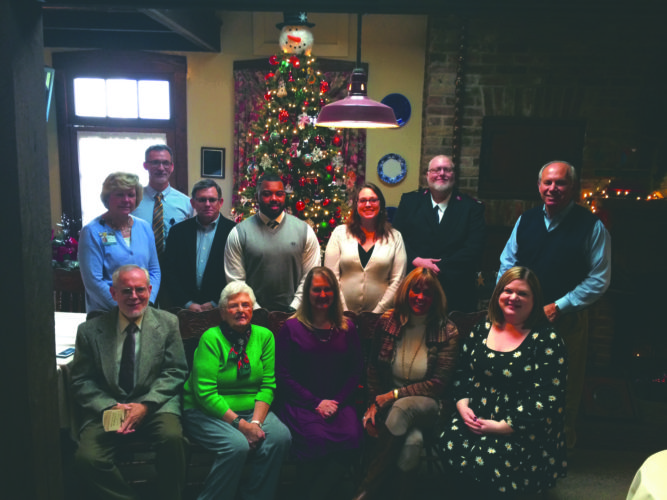 (Journal photo by Matt Dellinger) Non-profit representatives and some members of the Charles Town Rotary Club pose for a group picture Wednesday at The Anvil Restaurant in Harpers Ferry.