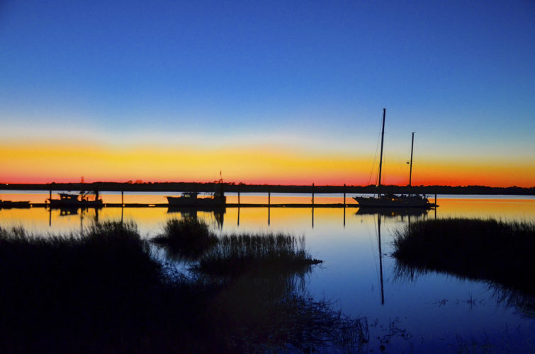 Photos by Jeanne Mozier Part of the Intercoastal Waterway, the Jekyll River separates the island from the mainland.