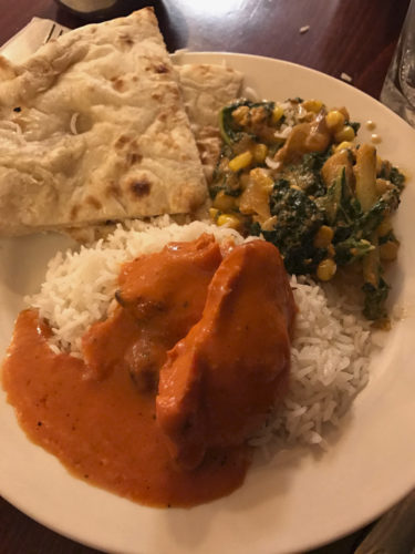 (Photo by the Secret Gourmet) Various buffet items, including kale makai, chicken ana masala and naan, are shown at Spice Connexion in Martinsburg.
