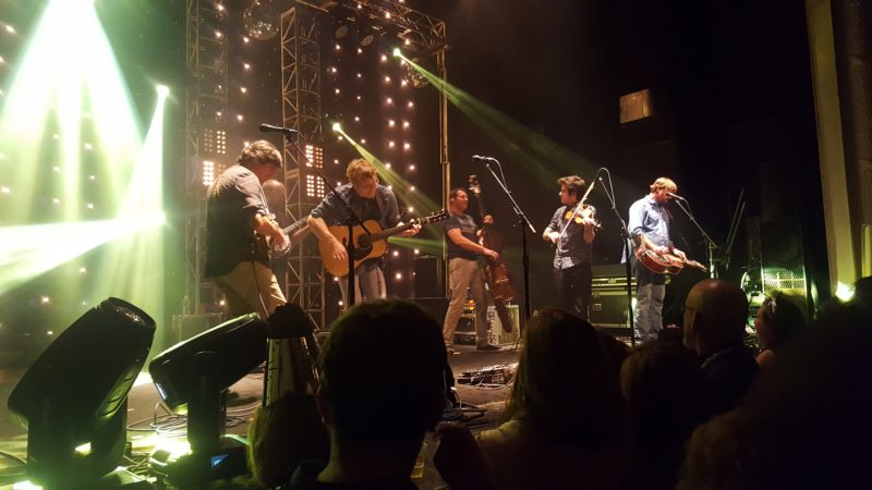 (Journal photo by Mary Stortstrom) Headline act Love Canon playing their set at the Jefferson Theater in Charlottesville, Virginia. Their bluegrass-style '80s covers are unique but a fun throwback that make old favorites new.