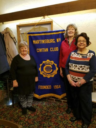 (Submitted photo) Martinsburg Civitan Club members, from left, are Pam Cook, Judy Balenger and Patty Kinder.