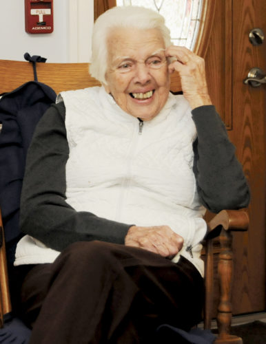 (Journal photo by Ron Agnir) Dorothy Boyd, a resident at Countryside Assisted Living facility in Martinsburg, will be honored with a party for her 100th birthday on Feb. 1.