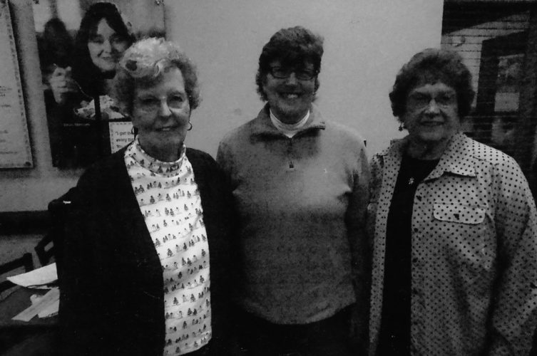 Submitted photo From left are the nomination committee, Libby Salmon, Margaret Myers and Dorothy LeFevre.