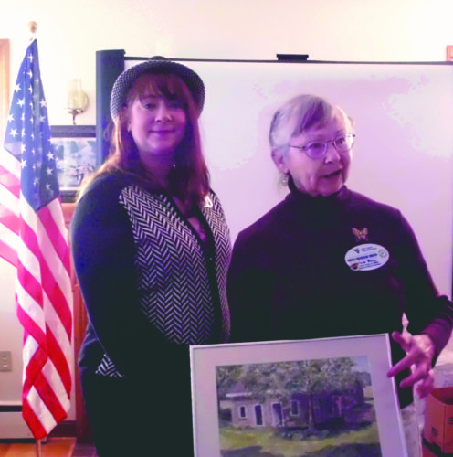 Submitted photo William Henshaw Chapter's Conservation Chair Laura Shifflett (left) with Master Gardener and Naturalist Virginia Winston following Winston's slide show and narration on the beauty and life-sustaining benefits of using native plants in the garden.