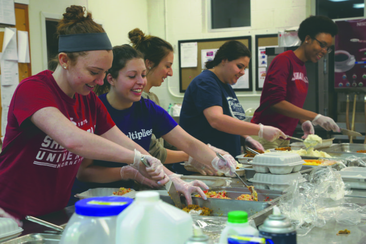 Submitted photo By collecting surplus food from the on-campus dining facility and developing partnerships with local social service agencies, Campus Kitchens Project will turn this unused food into healthy meals for those in need.