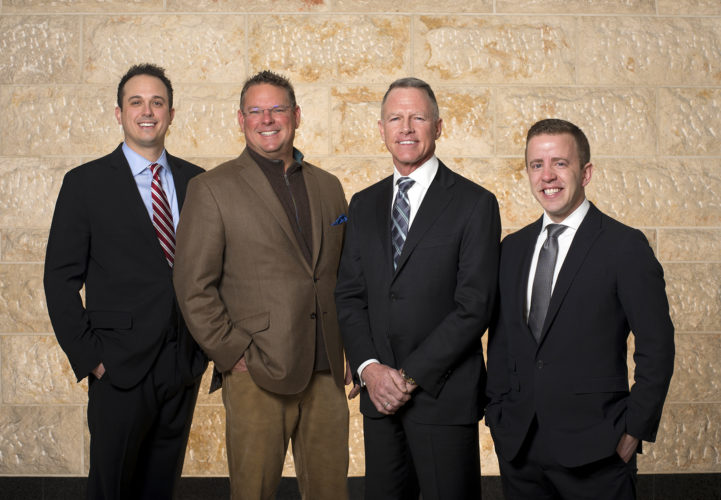(Submitted photo) Shown, from left, are Rob Ross, Ed Dean, Peter Cameron and Josh Burruss.