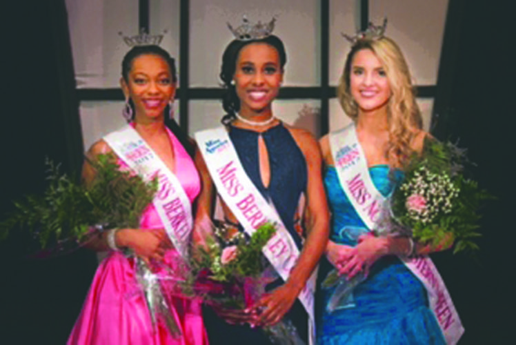 Submitted photo Pictured are winners of the 2017 Miss Berkeley County competition, which was held Feb. 18 at the Apollo Civic Theatre. From left are Sabrina Harrison, Miss Berkeley County's Outstanding Teen; Tamia Hardy, Miss Berkeley County; and Amanda Peer, Miss North Eastern's Outstanding Teen. Not pictured is Megan Scarano, first runner up Miss Berkeley County.