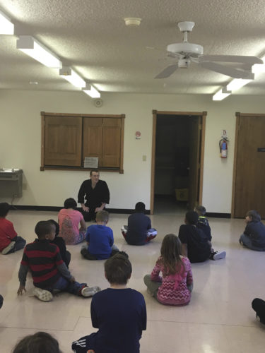 The martial arts class is shown at the community multipurpose room. (Submitted photo by Tiffany Hendershot)