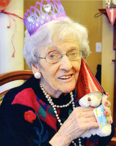 Jane Barrow celebrates her 100th birthday.