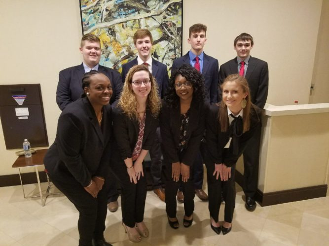 Members of the Martinsburg High School DECA are shown. (Submitted photo)