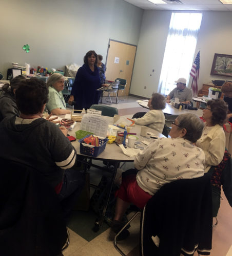 Journal photo by Adranisha Stephens Debbie Maiorano speaks with Senior Living Center residents on the effects of problem gambling.