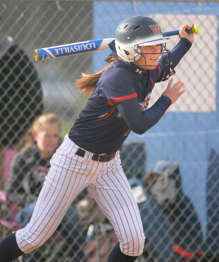Caitlin Myers of Washington had four hits and drove in 10 runs in three games for the Patriots last week. (Journal file photo by Ron Agnir)