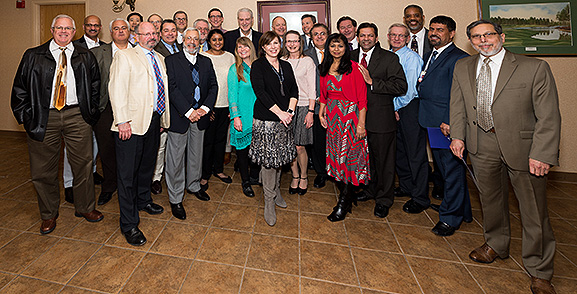 Pictured are a number of medical staff members recently honored by Meritus Medical Center. (Submitted photo)