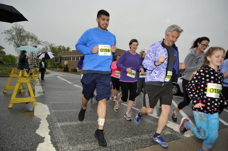 Runners of all ages participate in the Shenandoah Women's Center 3D dash 5k run at Shepherd University to help raise needed funds for the center. (Journal photo by Jeff McCoy)