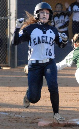 Freshman Isabella Forte had 10 hits and seven RBI in five games for Hedgesville last week. (Journal photo by Eric Jones)