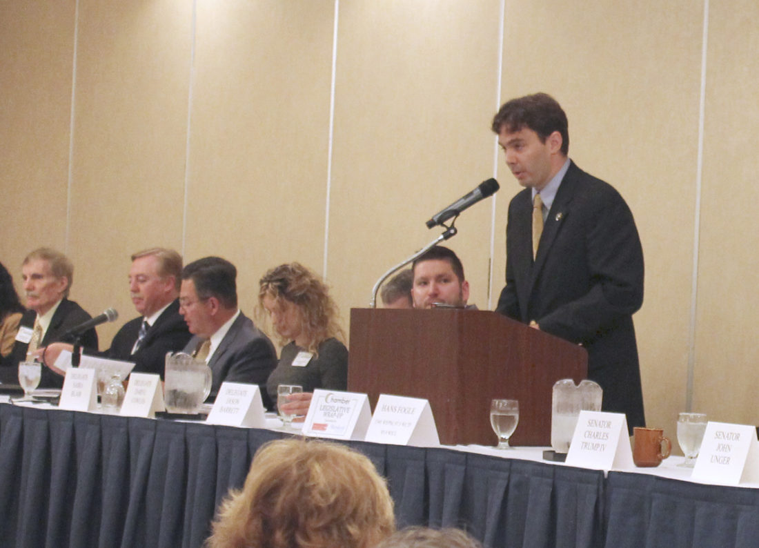 Eastern Panhandle Legislators gathered at the Holiday Inn in Martinsburg on Thursday morning for an end of legislature wrap up hosted by the Berkeley County Chamber of Commerce. (Journal photo by Danyel VanReenen)